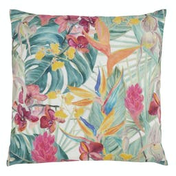 Tropical Floral Pillow - Poly Filled