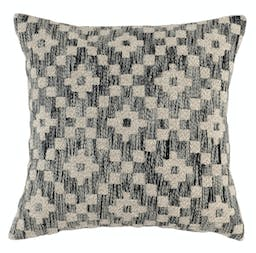 Verity Embroidered Throw Pillow Black