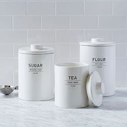 Utility Kitchen Collection, Flour Canister, White