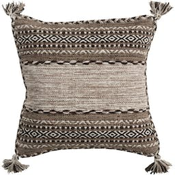 """Yonder Pillow Shell with Polyester Insert,18"""" x 18"""" Brown"""