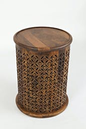 Pacey Archive Drum Table Mango - Tan