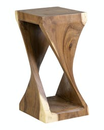 Riley Twist Wooden Side Table Natural