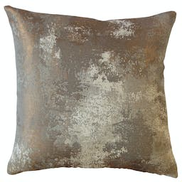 """Zakhar Solid Throw Pillow Copper 18"""" x 18"""""""