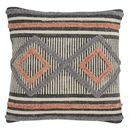 Printed + Embroidered Pillow - Down Filled