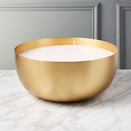 Large Brass Candle Bowl