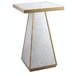 Atlee Mirrored Accent Table Gold
