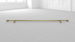 Oversized Adjustable Metal Rod 108-144 Inches Antique Brass
