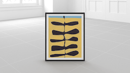 Minted For West Elm Prints Leaves and a Stem:Yellow/Black:18x22 in