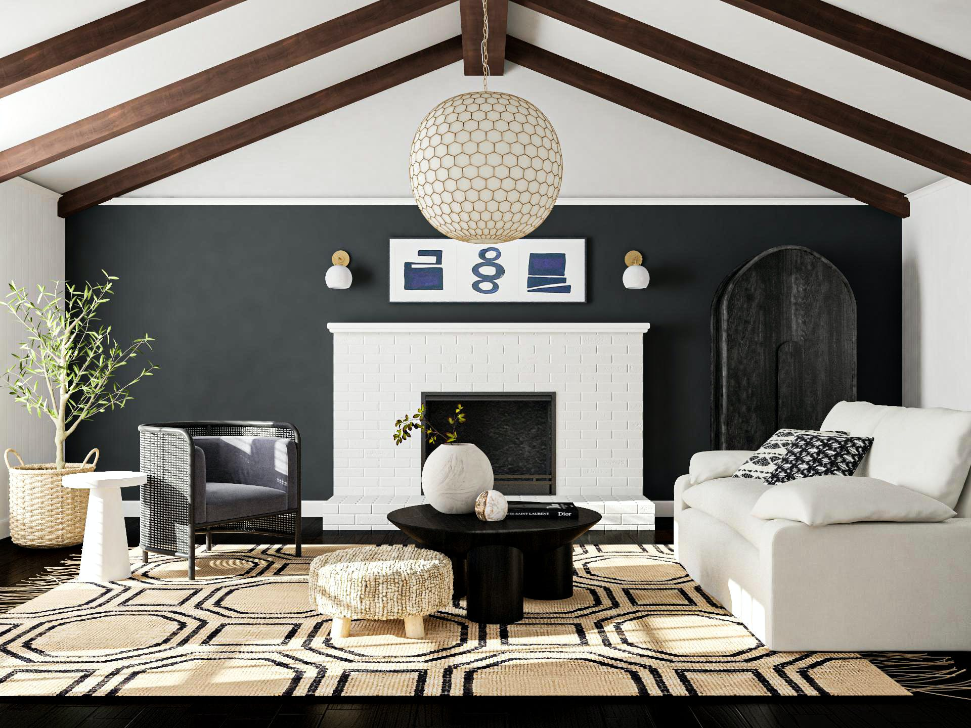Bold Living Room Accents