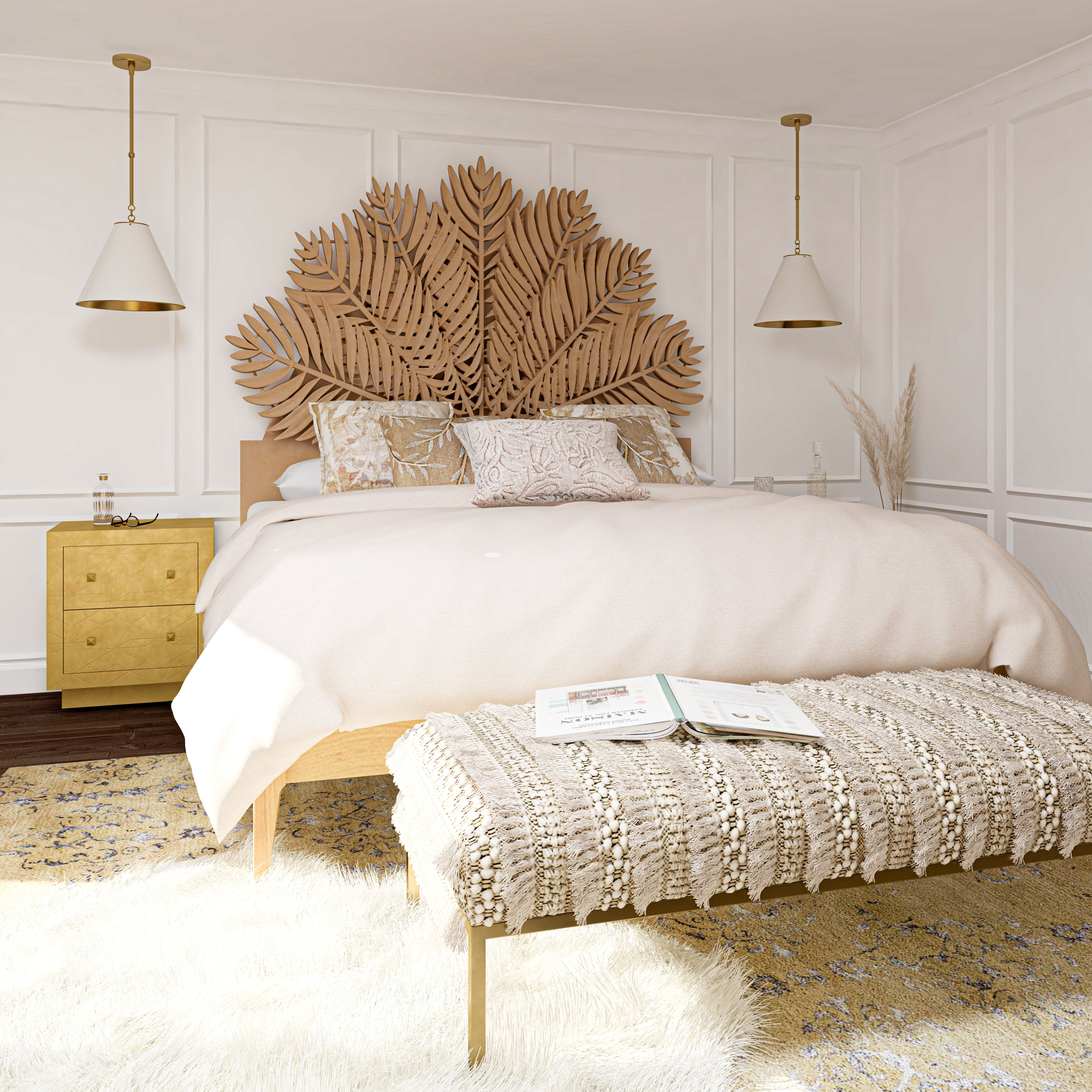 A White And Gold Bedroom Fit For Any Queen