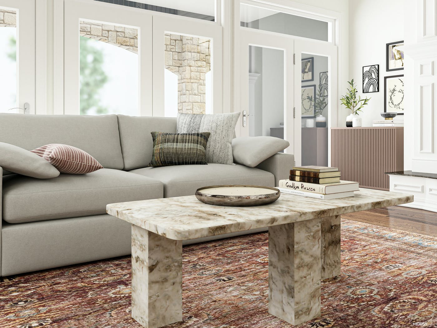 Make A Statement: Marble Coffee Table