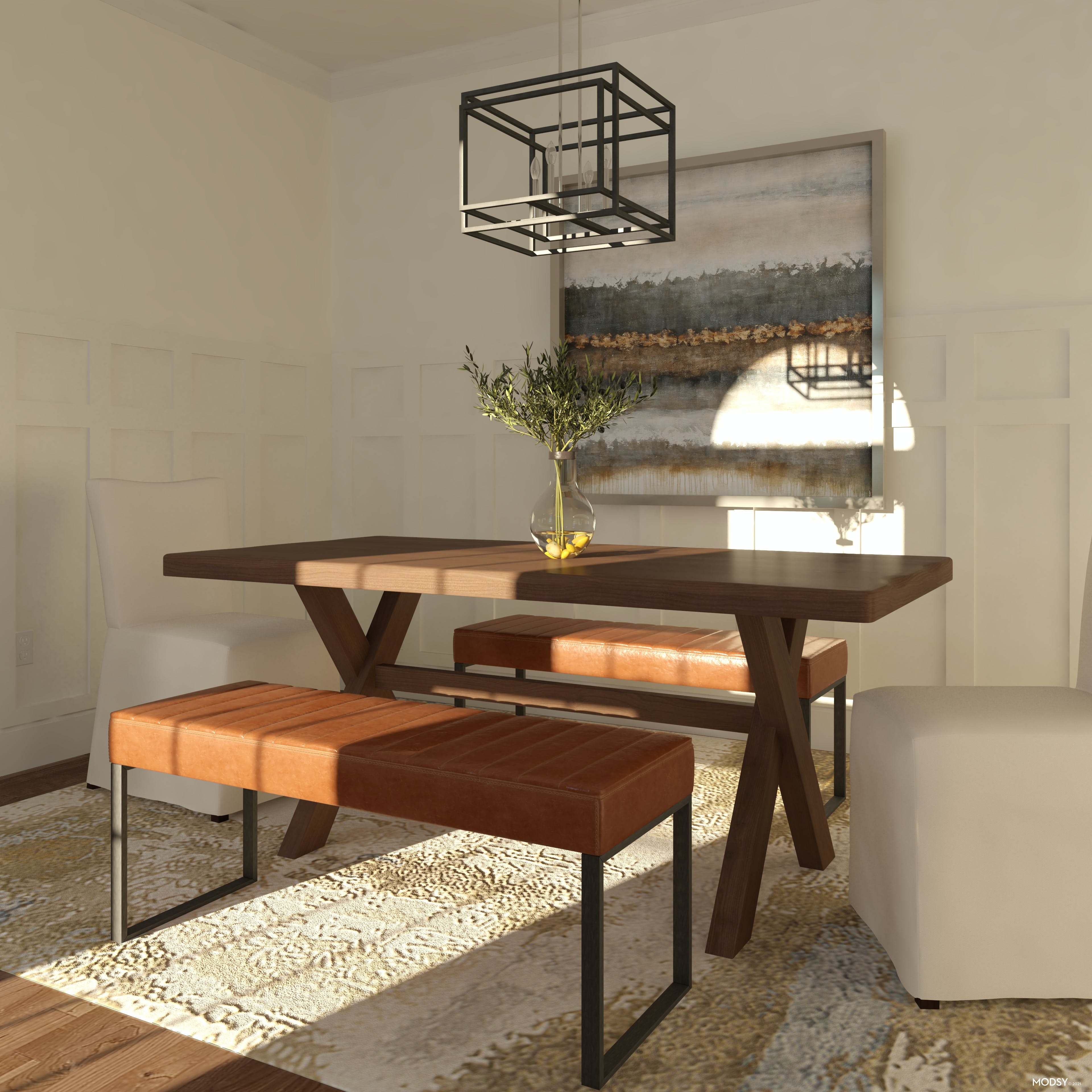 Small Space Solution: Dining Bench