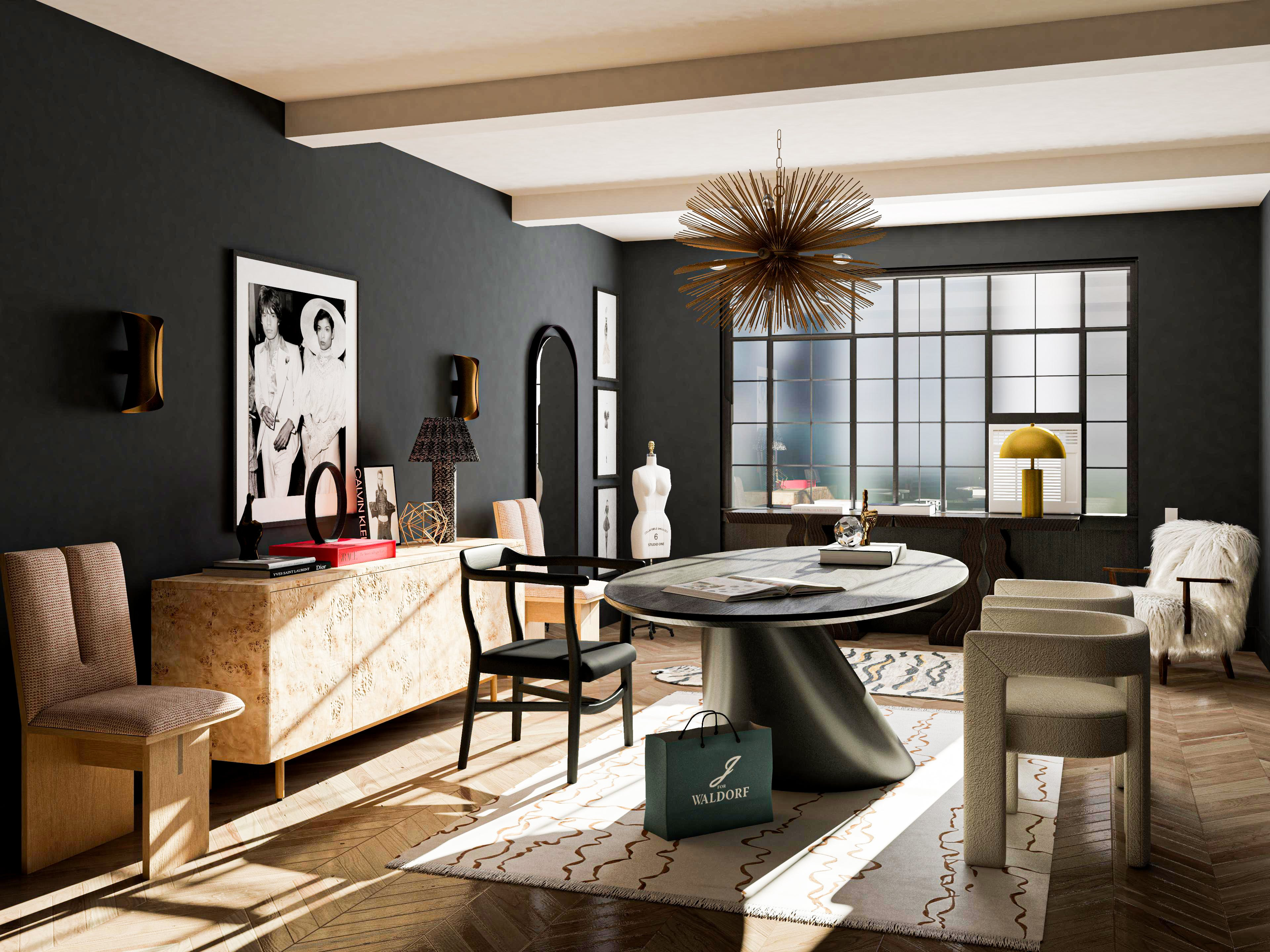 A Bold And Chic Fashion-Inspired Office