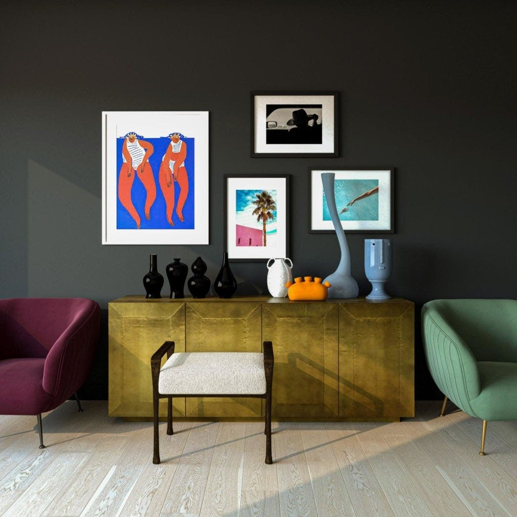 Playful 80s Glam Accent Area