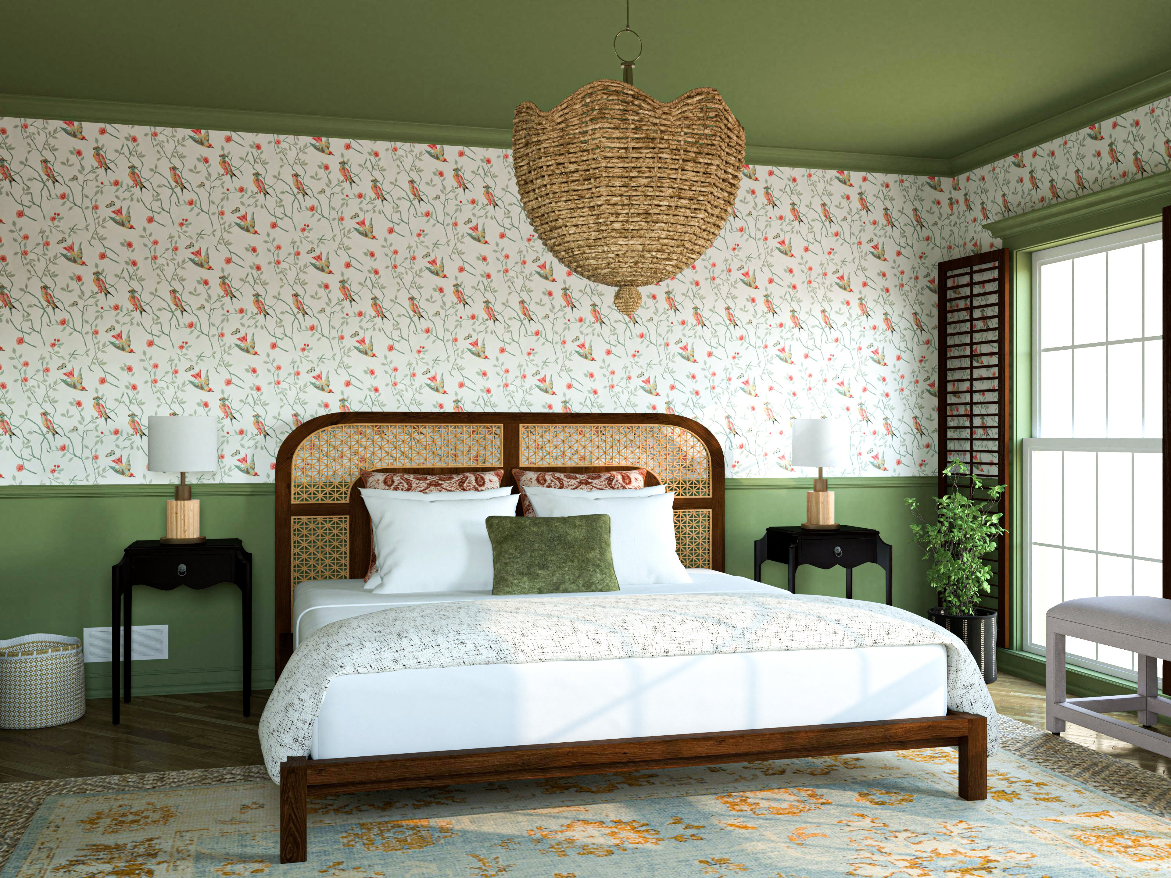 A Charming Engish-Inspired Main Bedroom