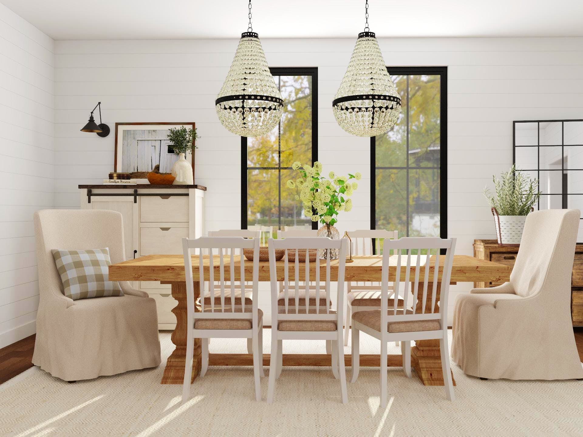 Classic Farmhouse Dining Room