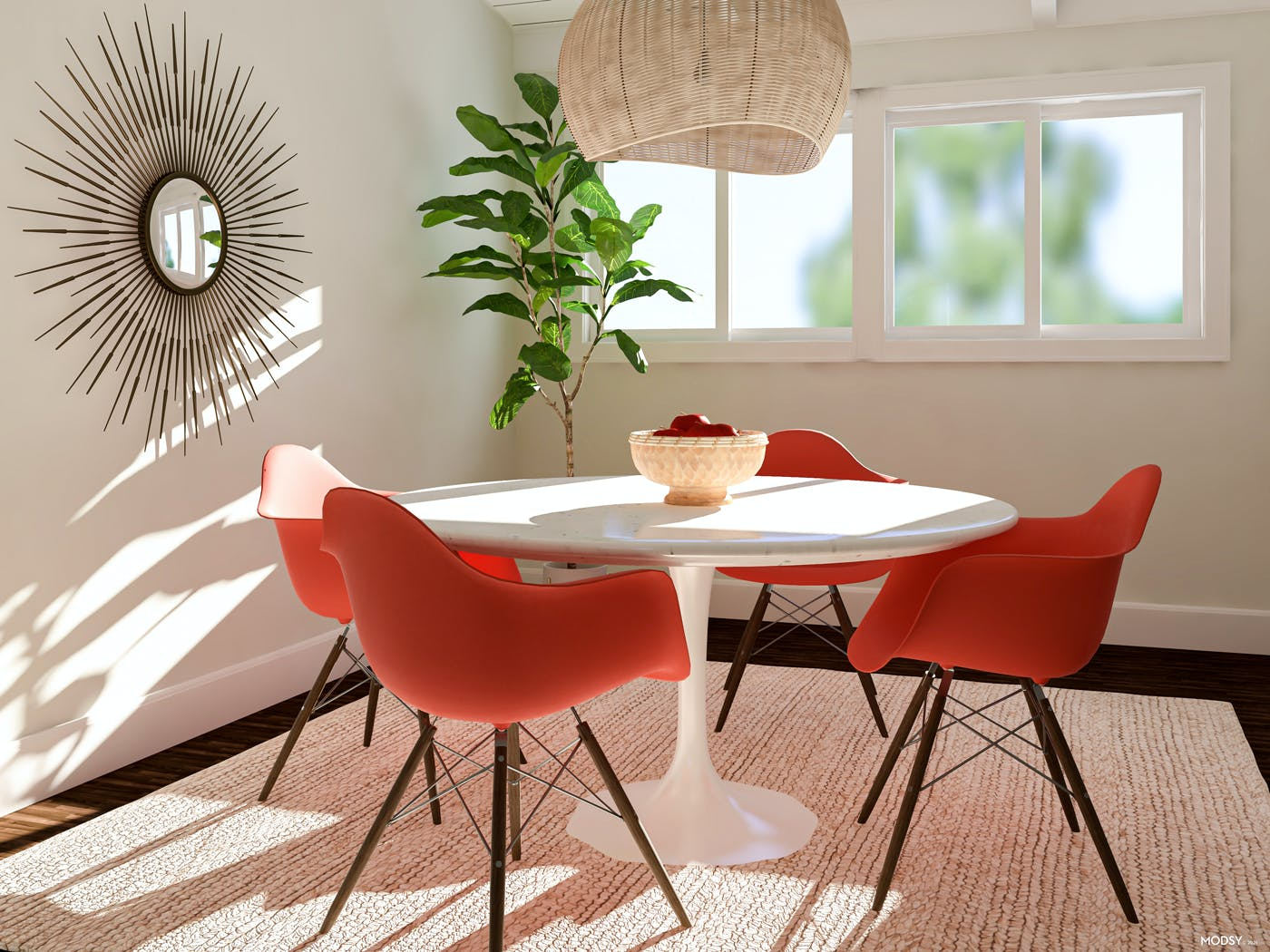 Colorful Moments: Mid-Century Dining
