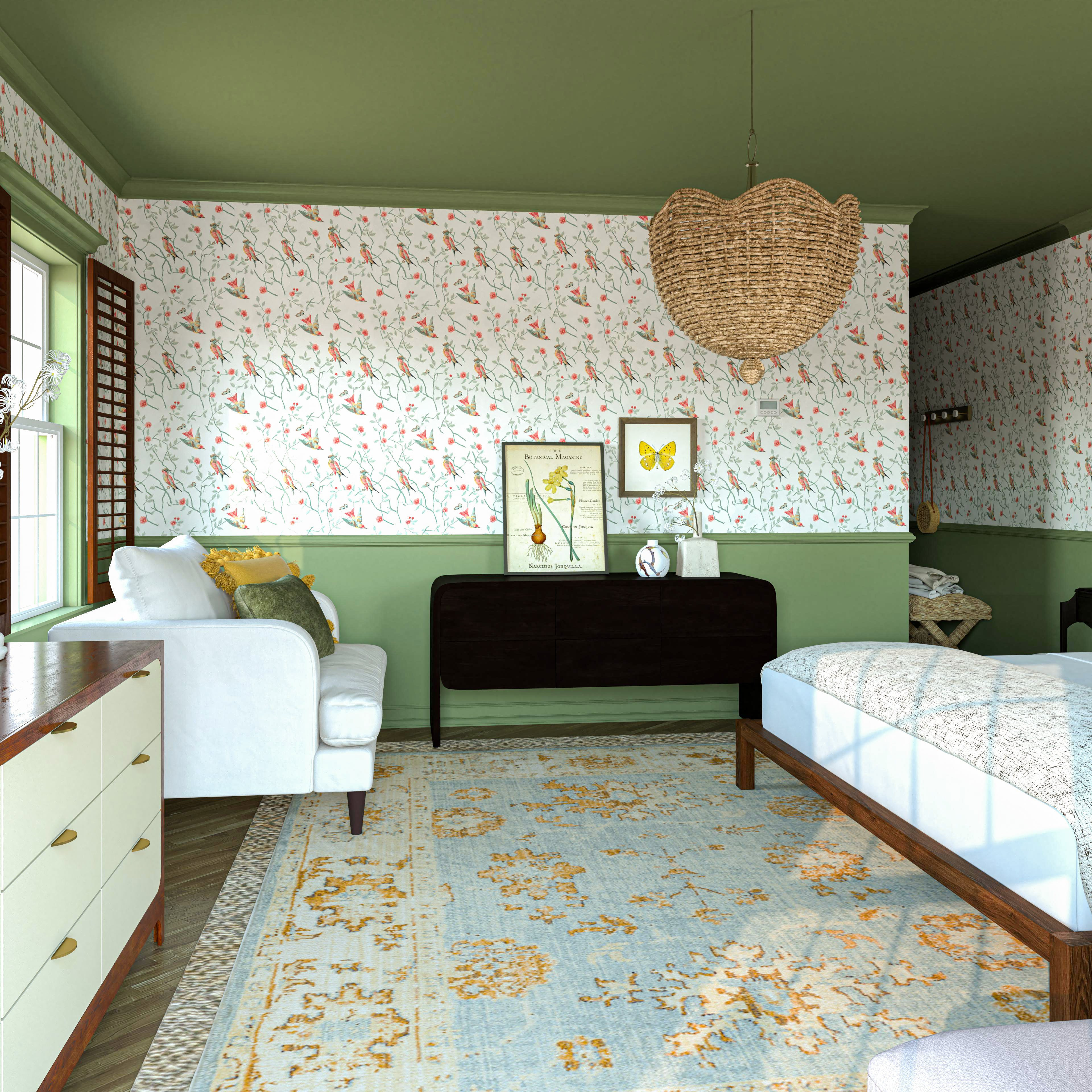 Additional Storage And Seating In This Charming Main Bedroom