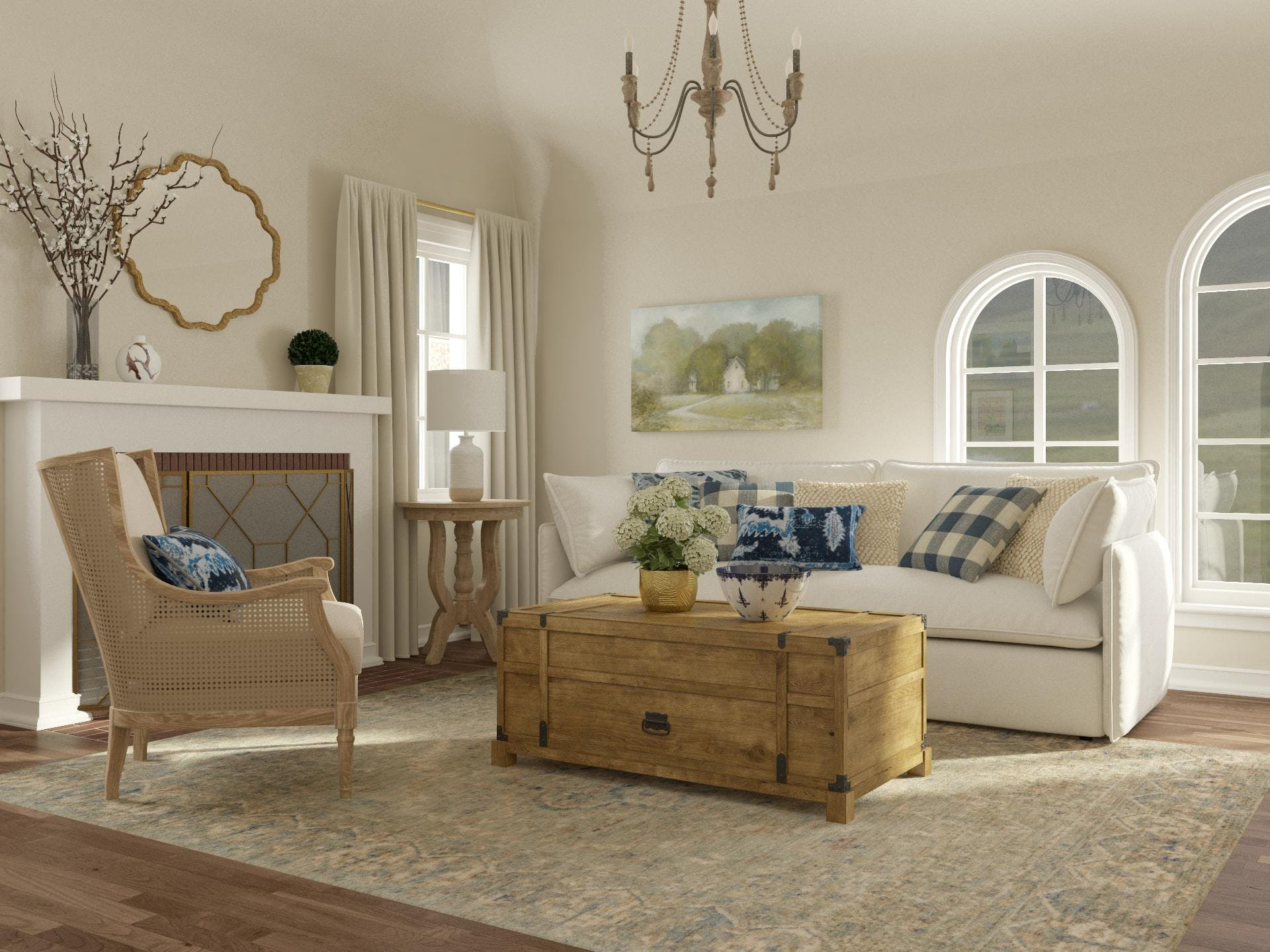 Countryside Chic Living Room