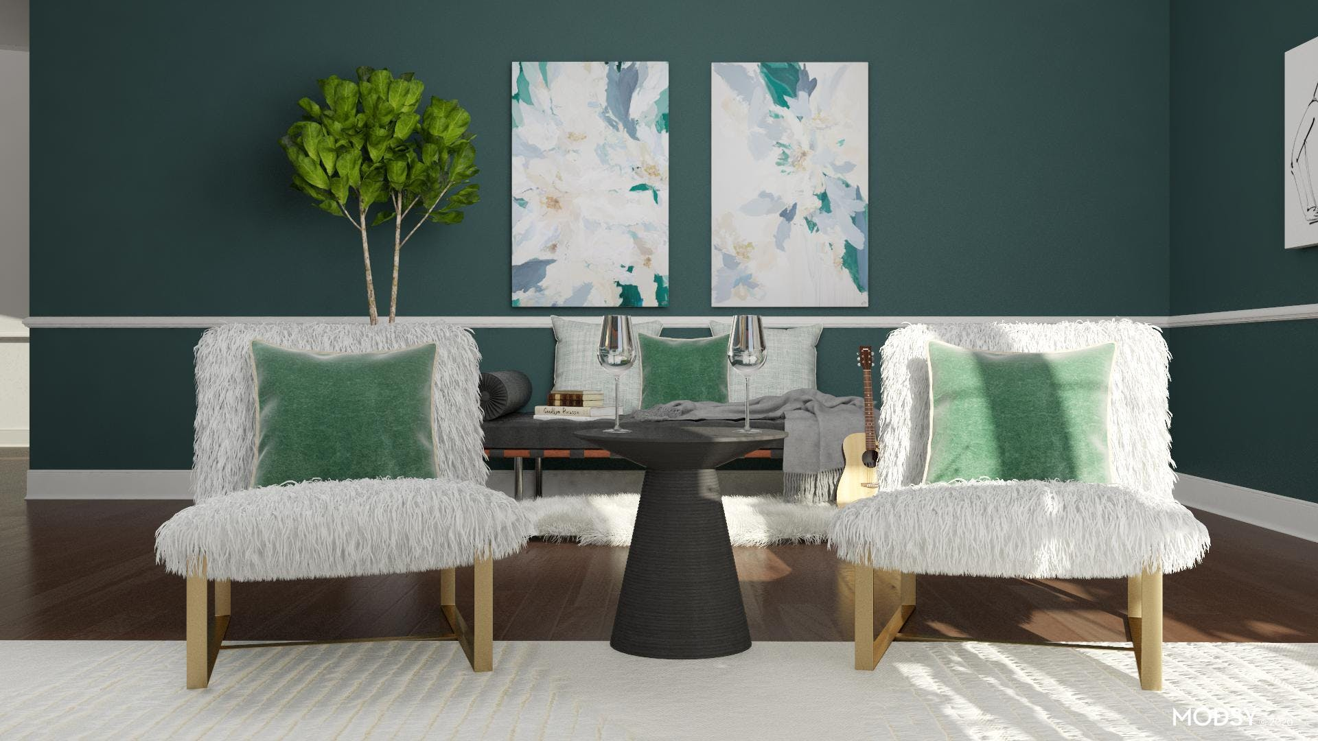 Bold, Beautiful And Green: A Glam Office