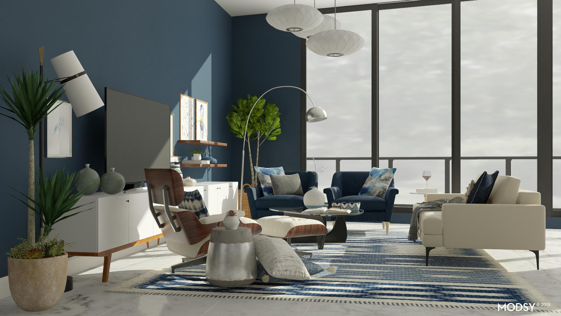 Creating Contrast In A Mid-Century Modern Living Room