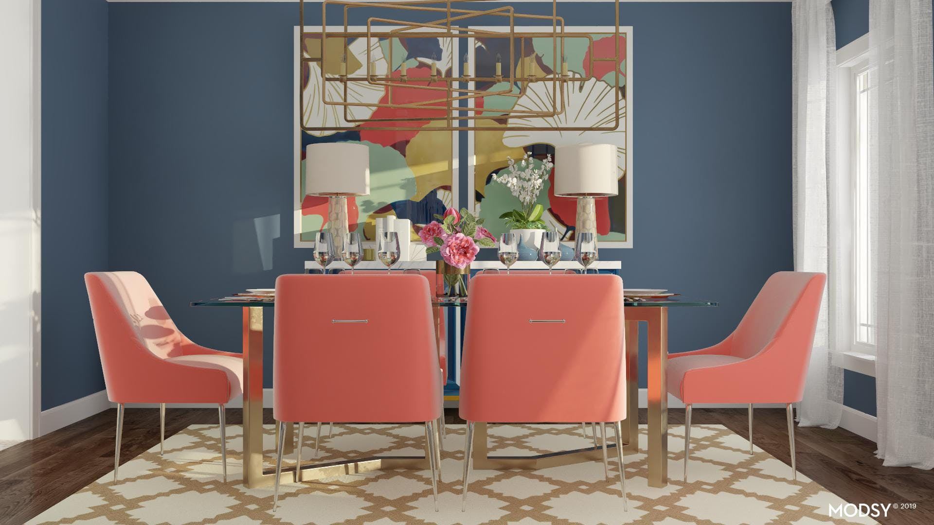 A Statement Dining Room