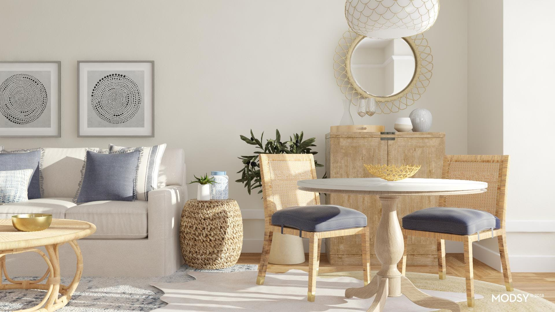 A Contemporary Classic Open Dining Area