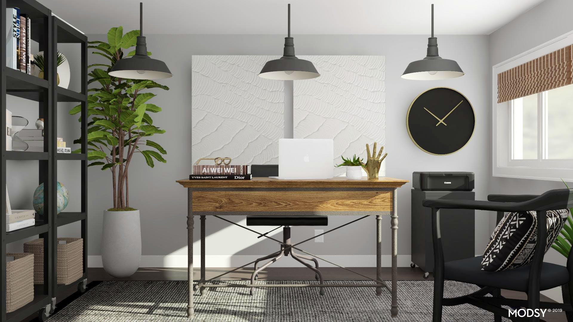 Black & White: An Industrial Office