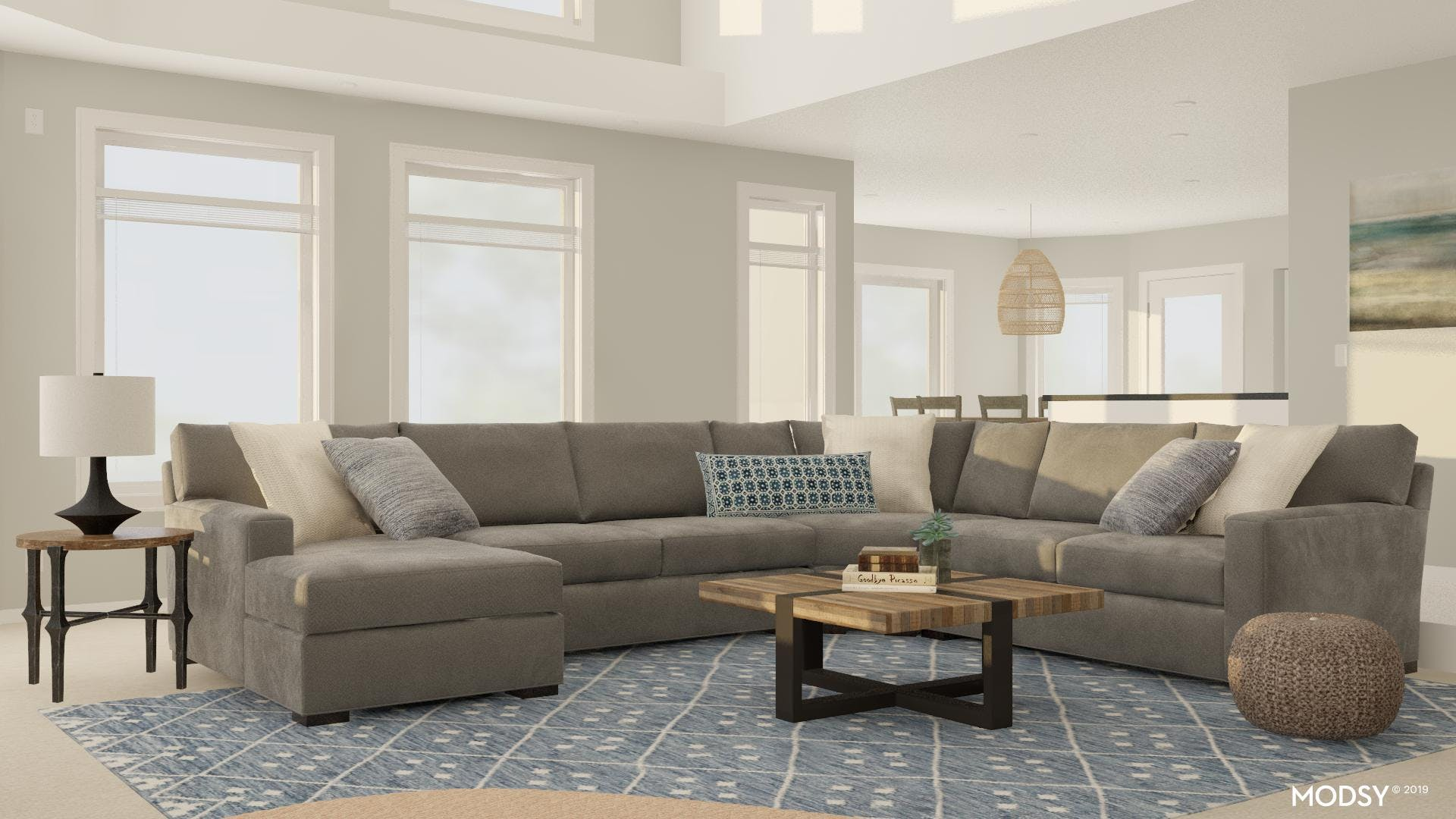 Layout Solutions: A Spacious Living Room