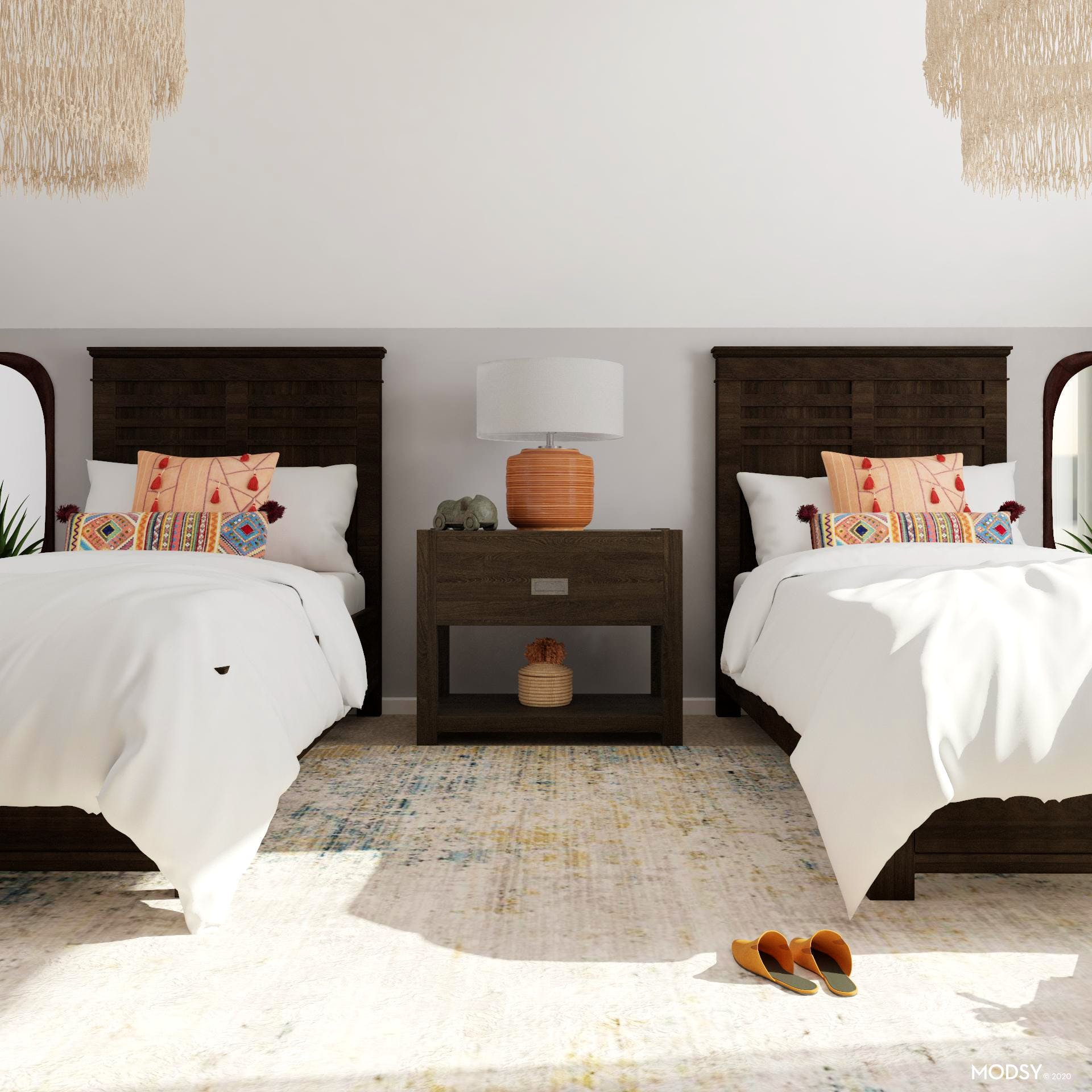Orange You Glad: Eclectic Bedroom
