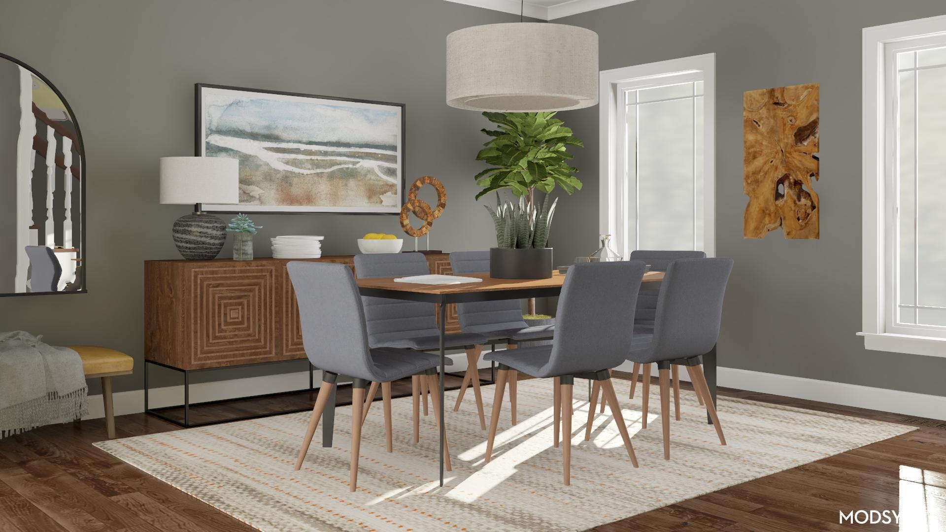 Modern Dining Room with a Masculine Edge