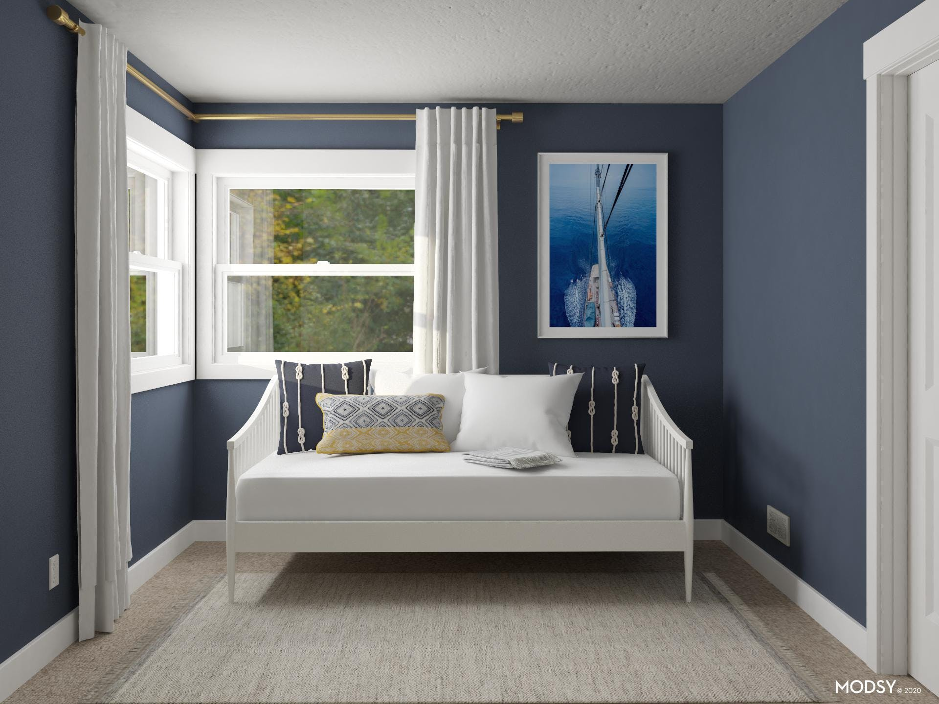 Blue Bedroom: Daybed Design