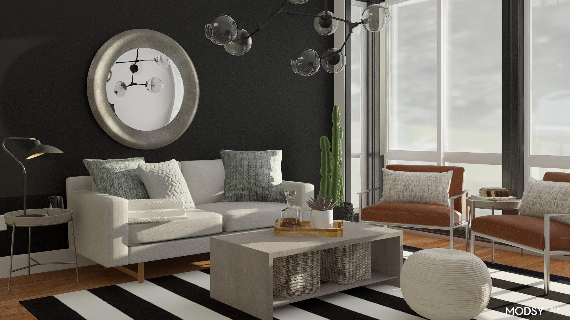Industrial Living Room with Elegance