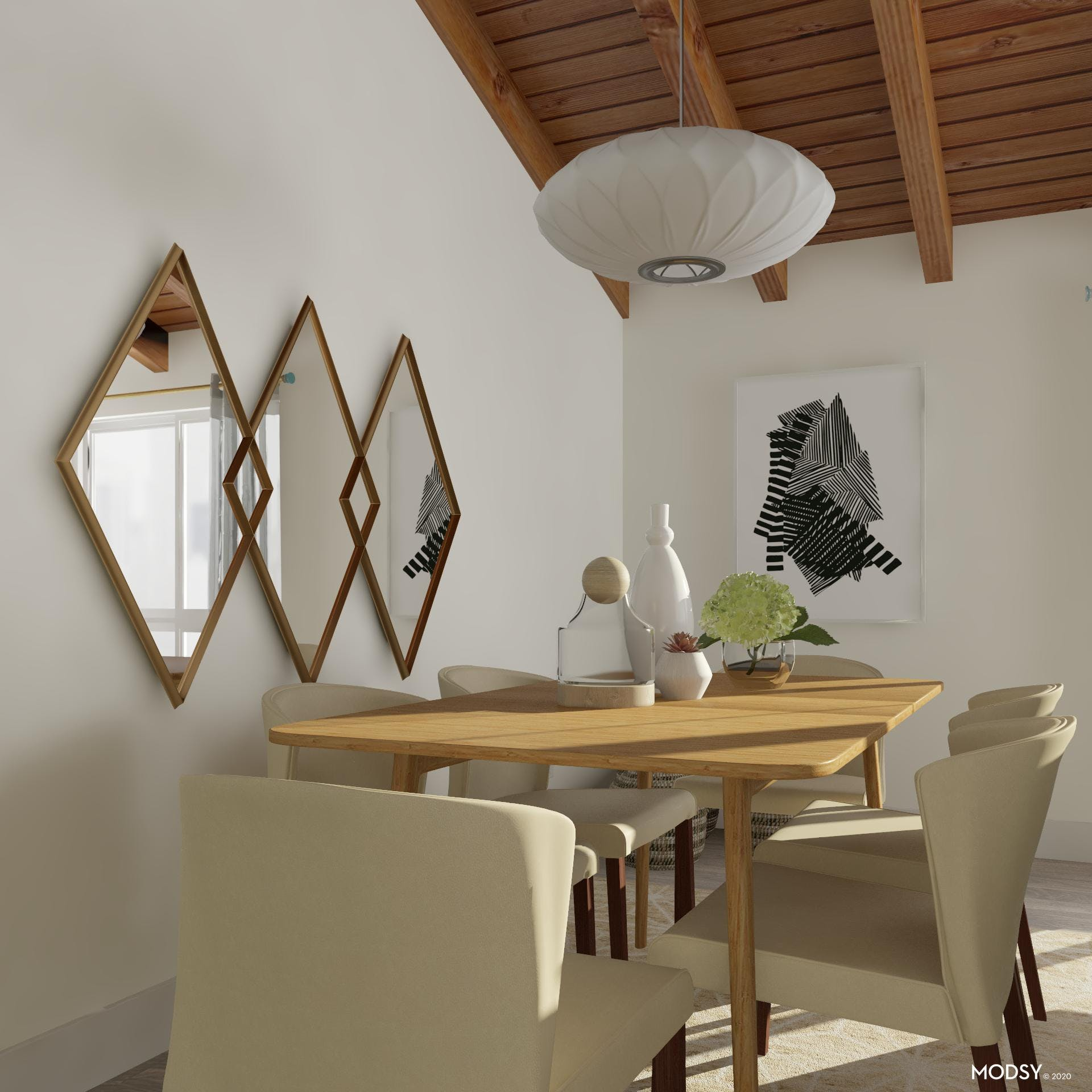 All About Angles: Mid-Century Dining
