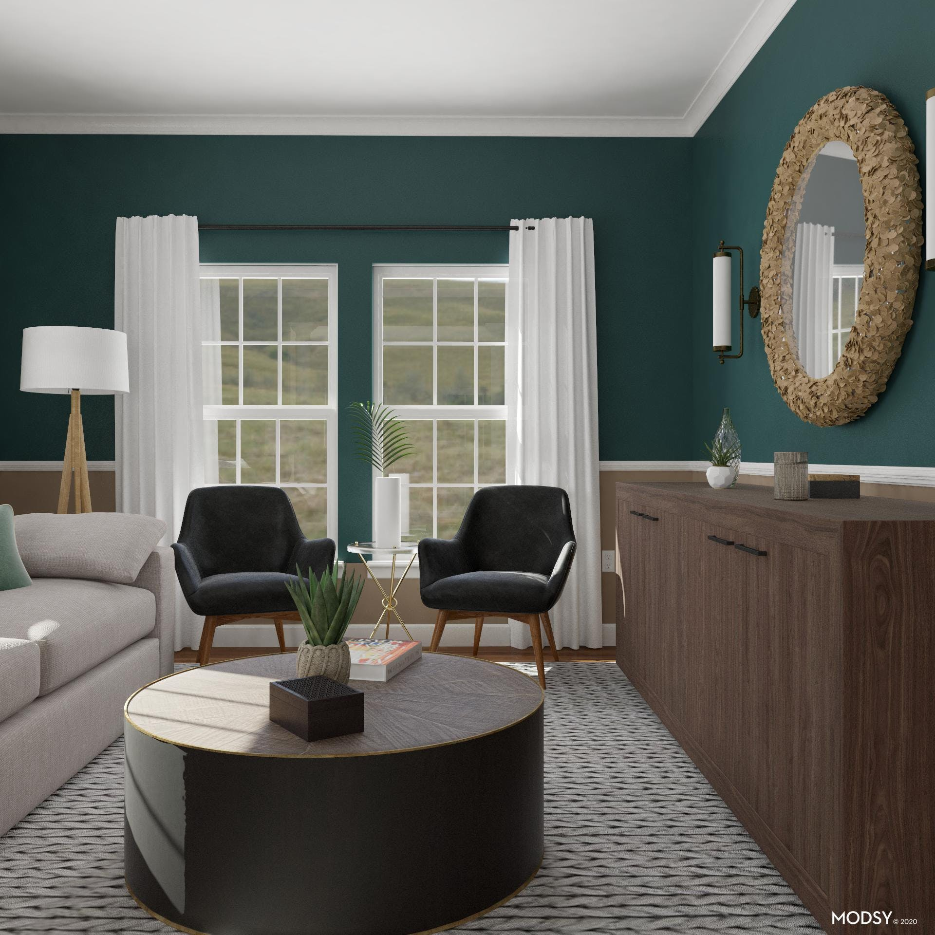 Ebony Accent: Bold Coffee Table
