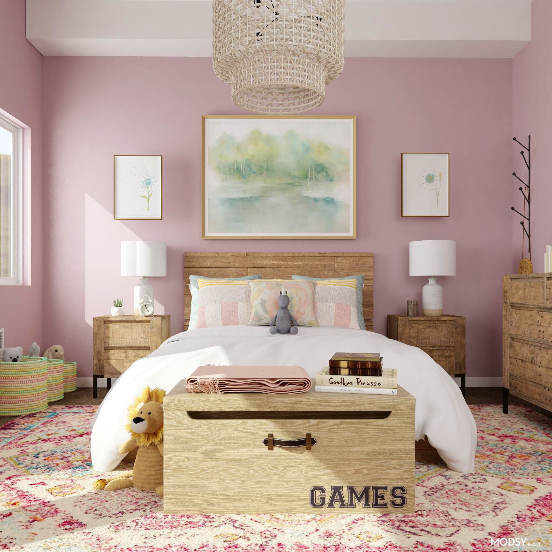 Rustic Meets Pastels: A Kid's Bedroom