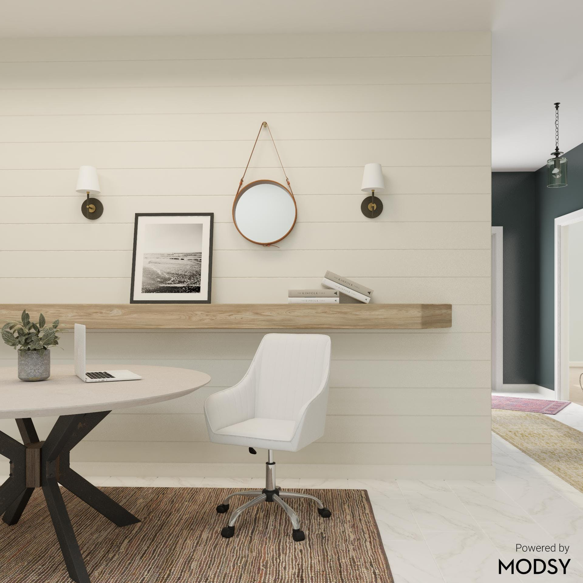Modern Office in Neutrals