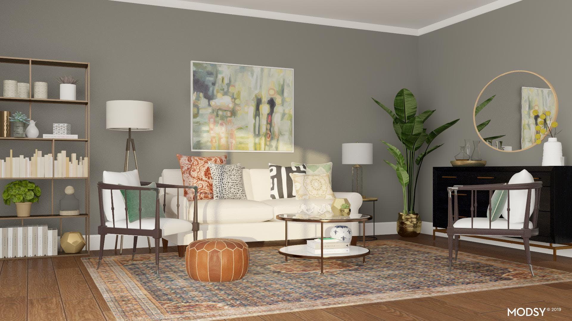 Classic Living Room with an Eclectic Twist