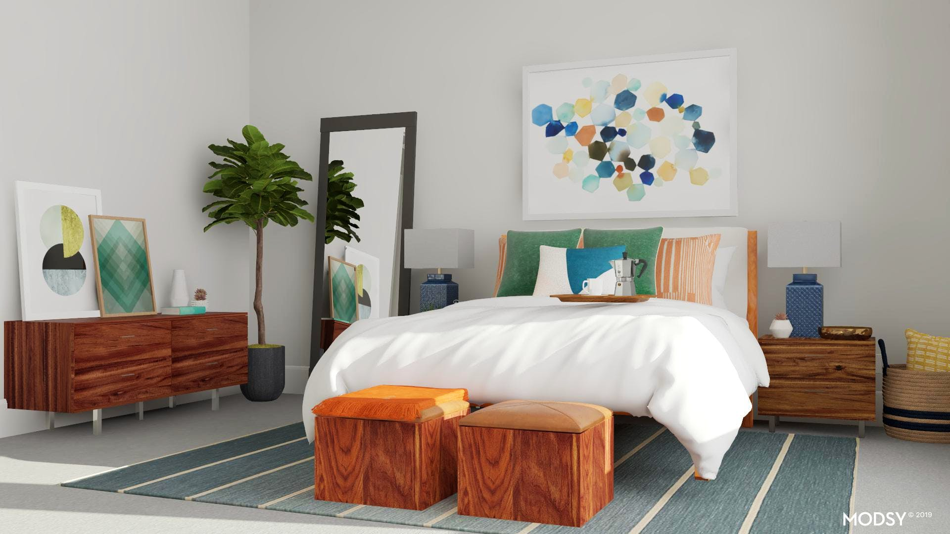 Modern Bedroom Not Afraid Of A Little Color