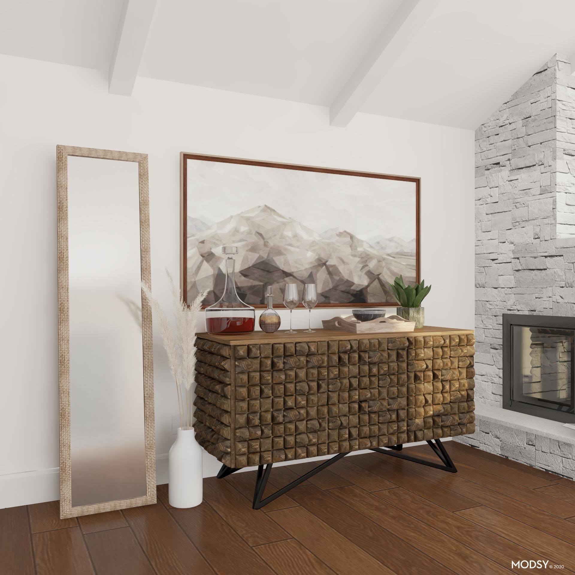 Styled Buffet: Textured Accents