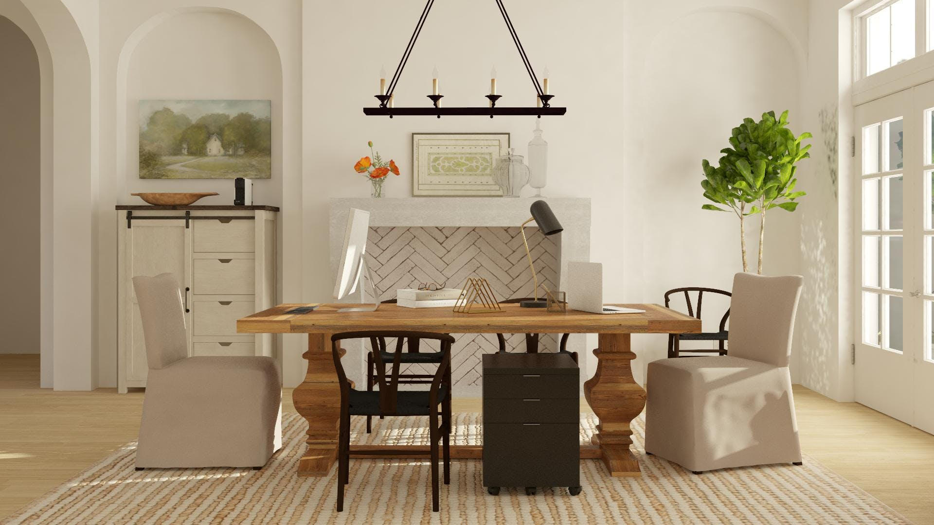 Home Office in Your Dining Room
