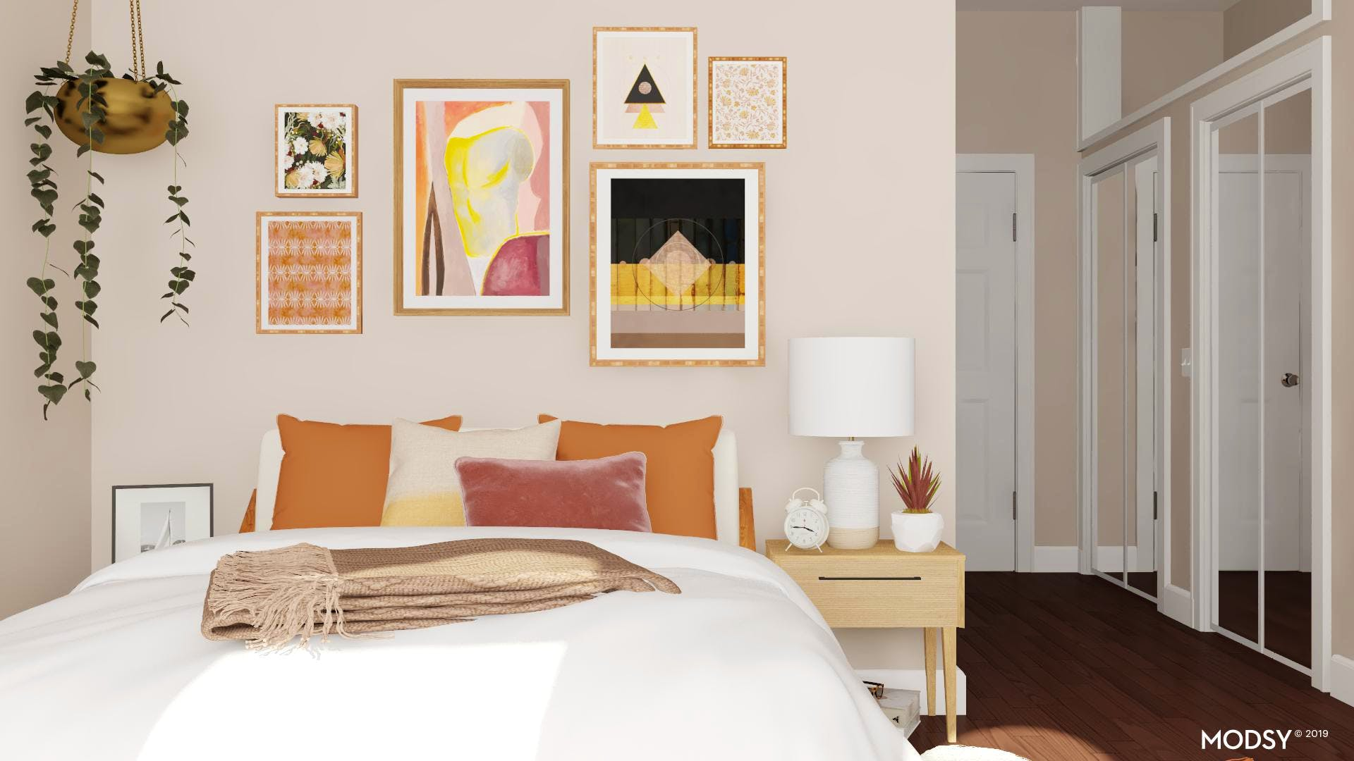 Bedroom Gallery Wall Full of Personality