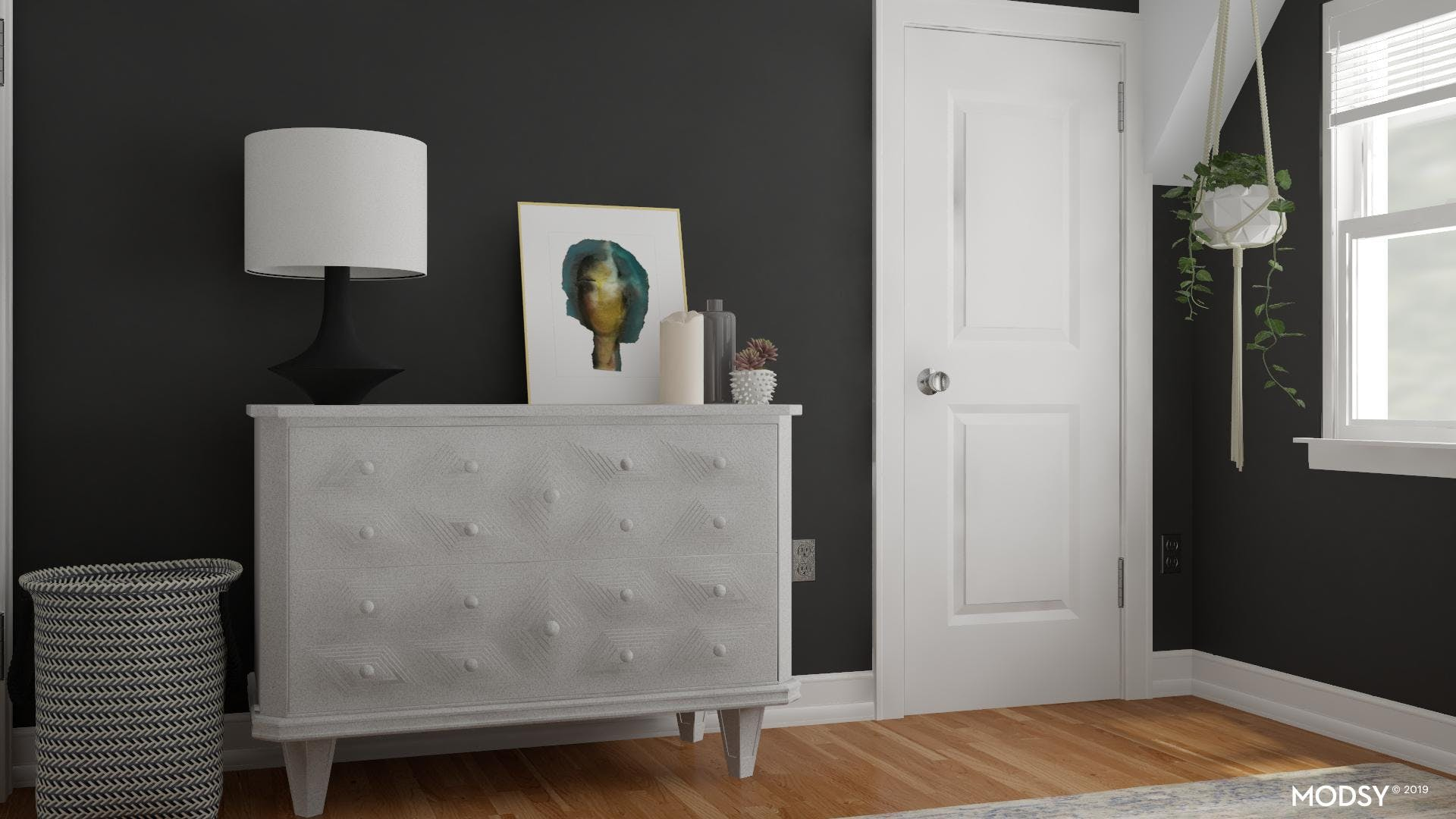 Storage and Style: Eclectic Bedroom