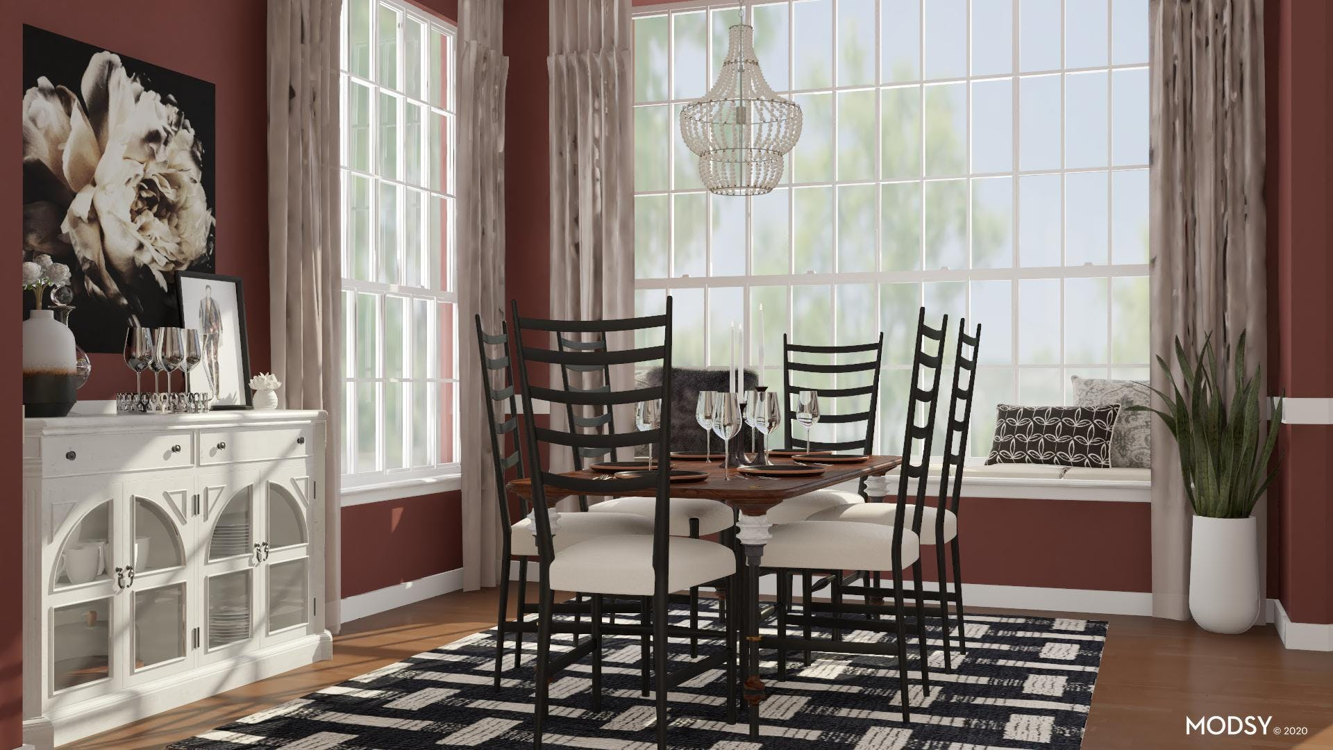 Moody Traditional Dining Room