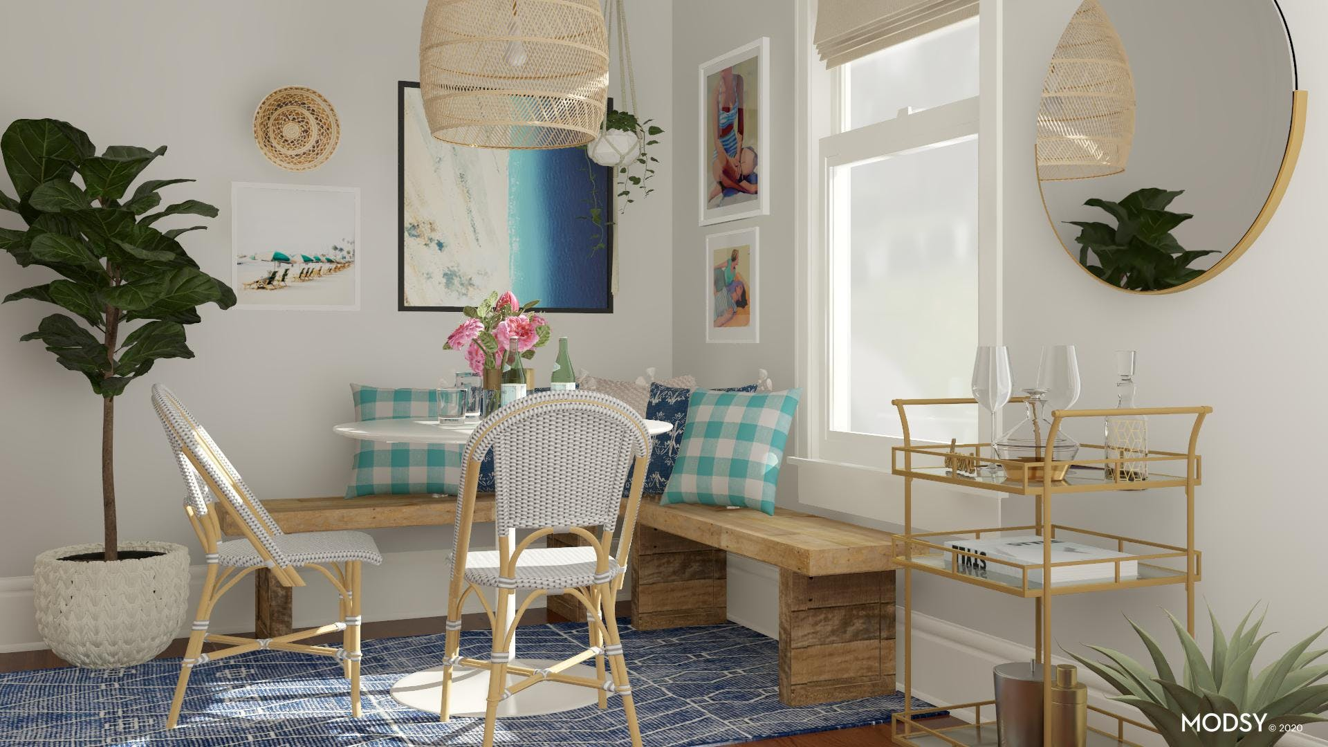 Bright & Colorful Dining Nook