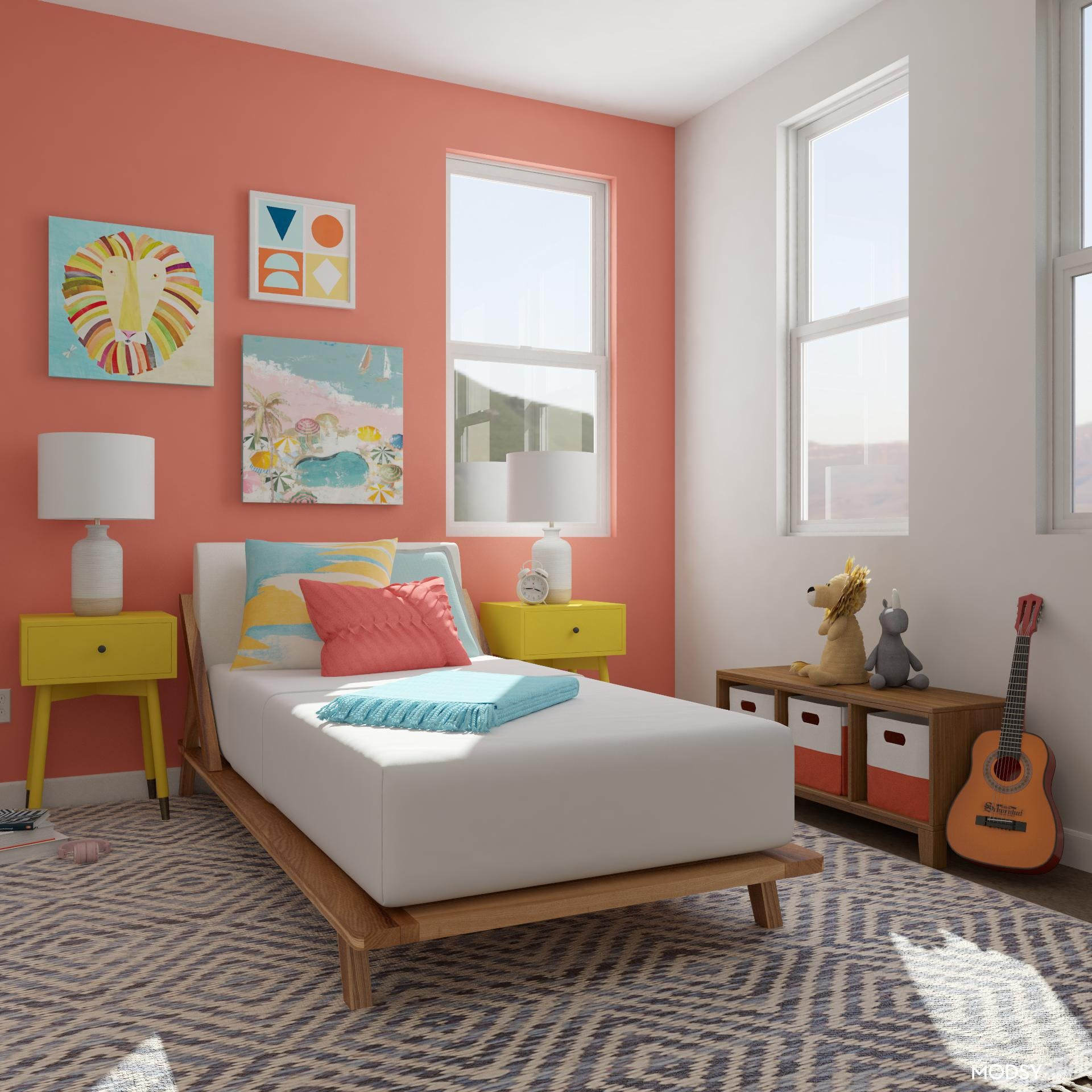 Kids' Bright Multicolor Coastal Bedroom