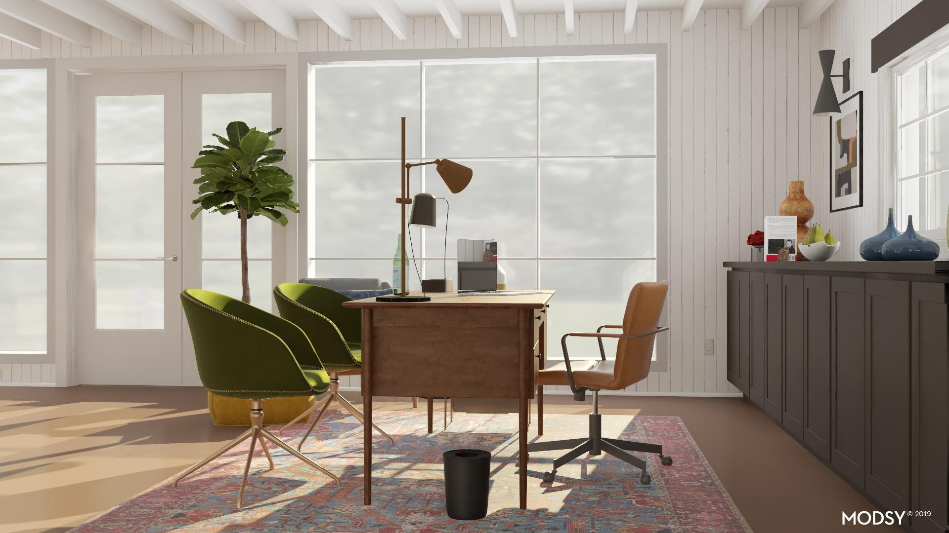 Mid Century Office With Views
