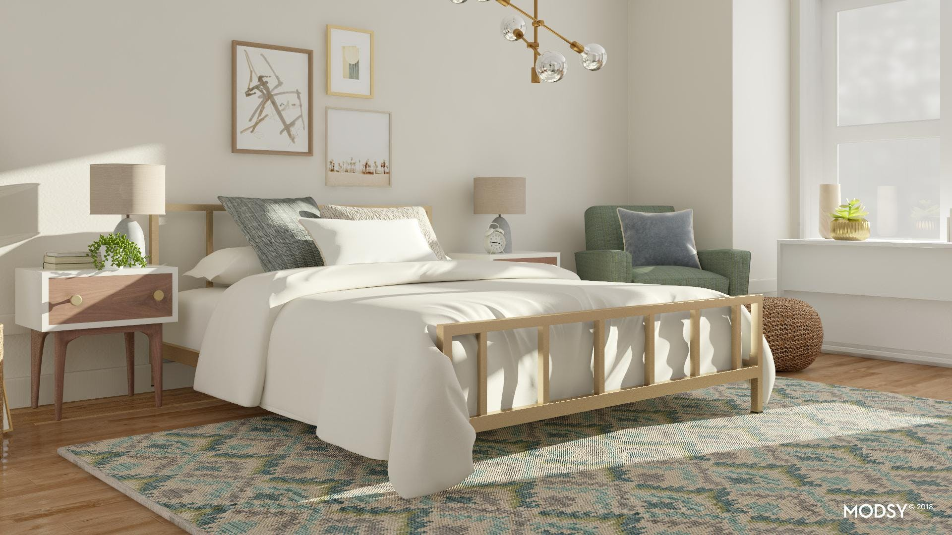 Mod Bedroom With A Glam Twist