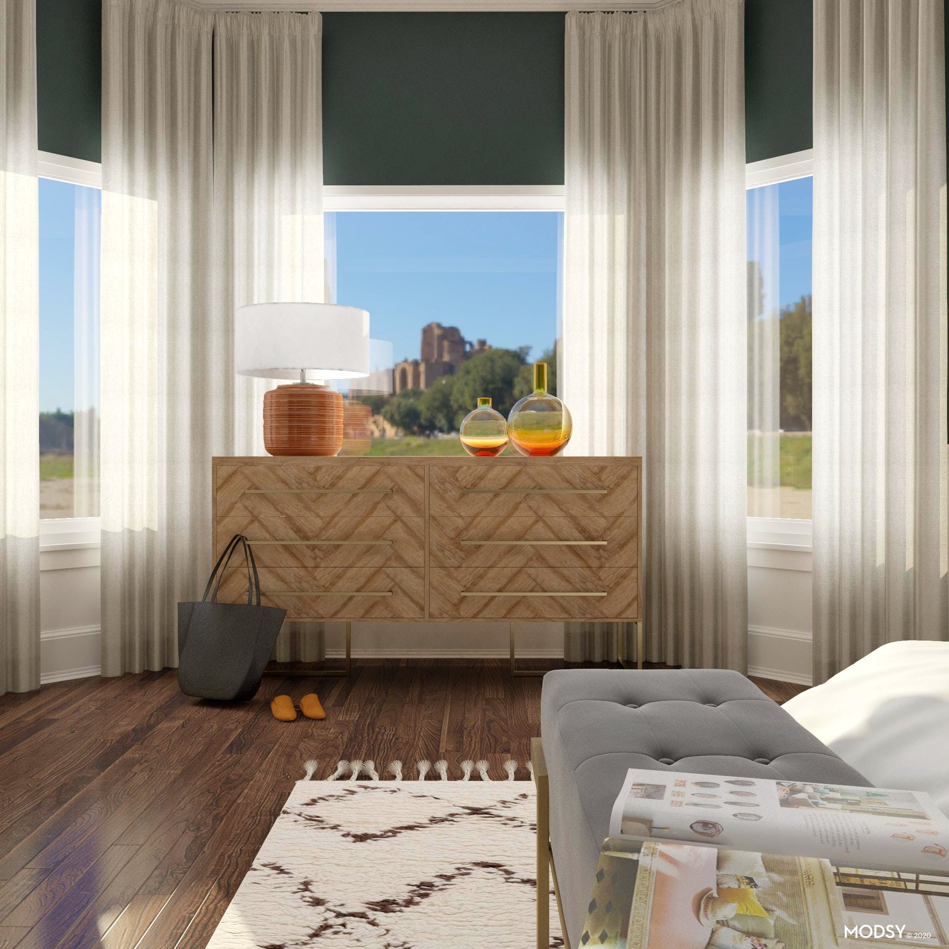 Conversation Starter: Green And Glam Bedroom