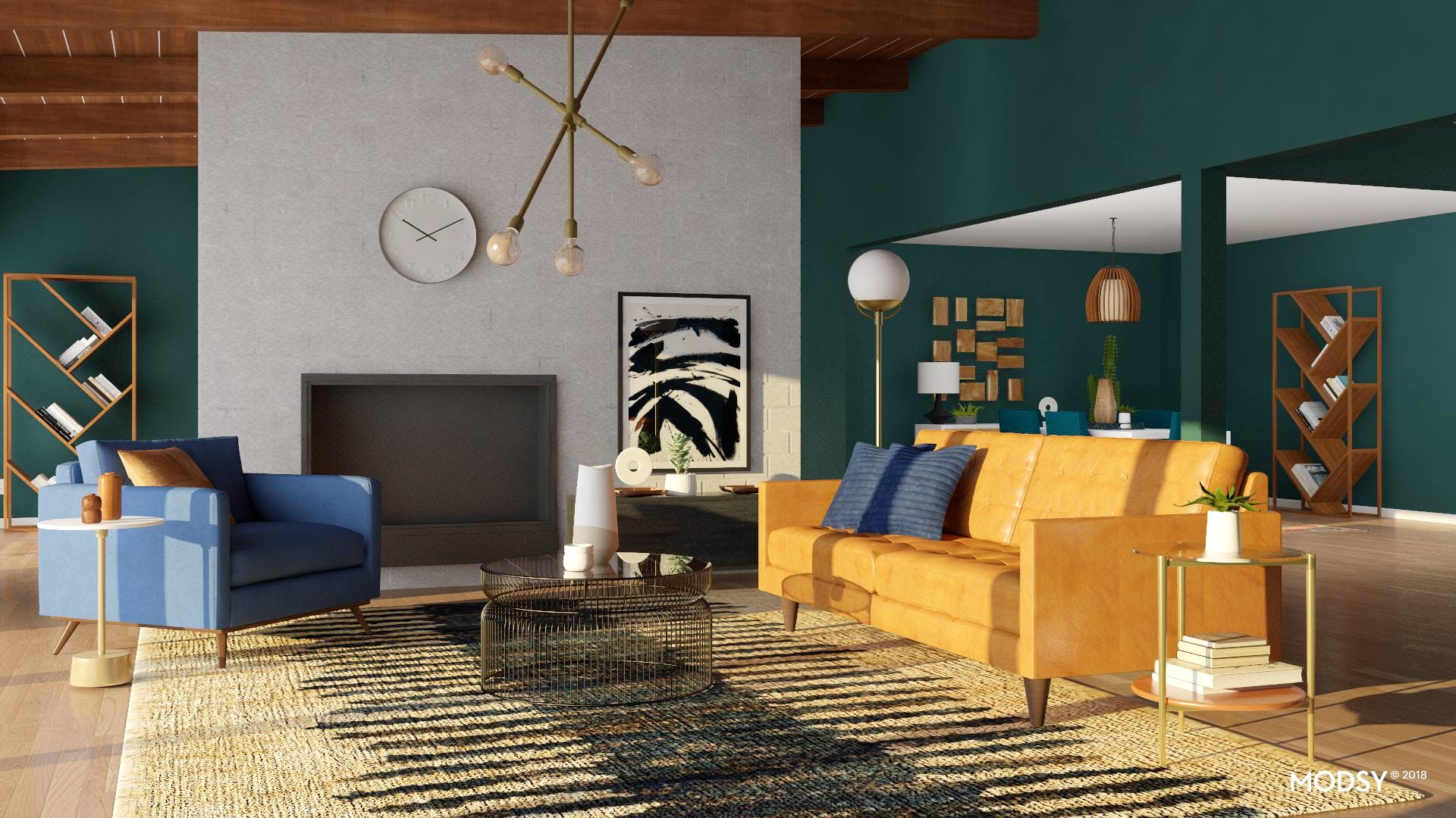 Play Up An Eclectic Color Palette